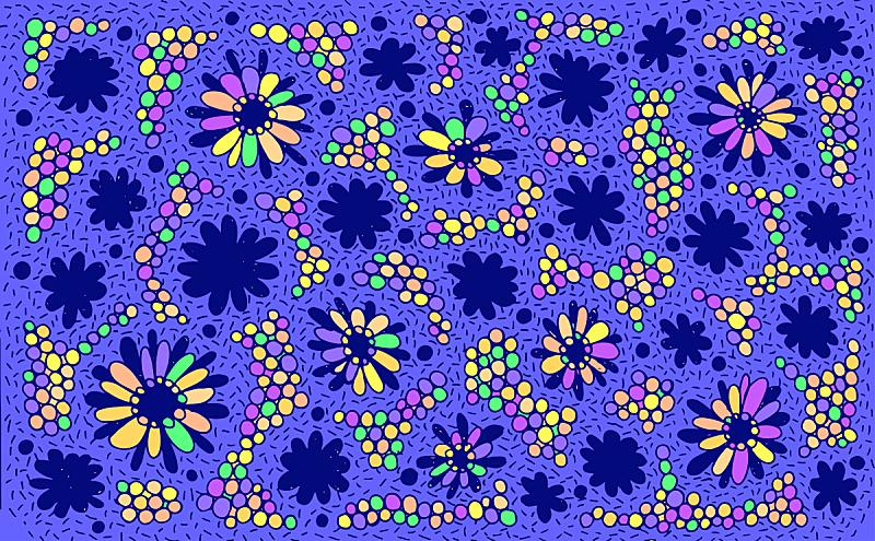 乱画,明亮,多色的,艺术,草地,背景,花纹,矢量,绘画插图,花