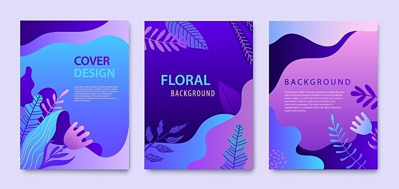 式样,活力,矢量,概念,紫色,小册子,美,羽绒被,自然