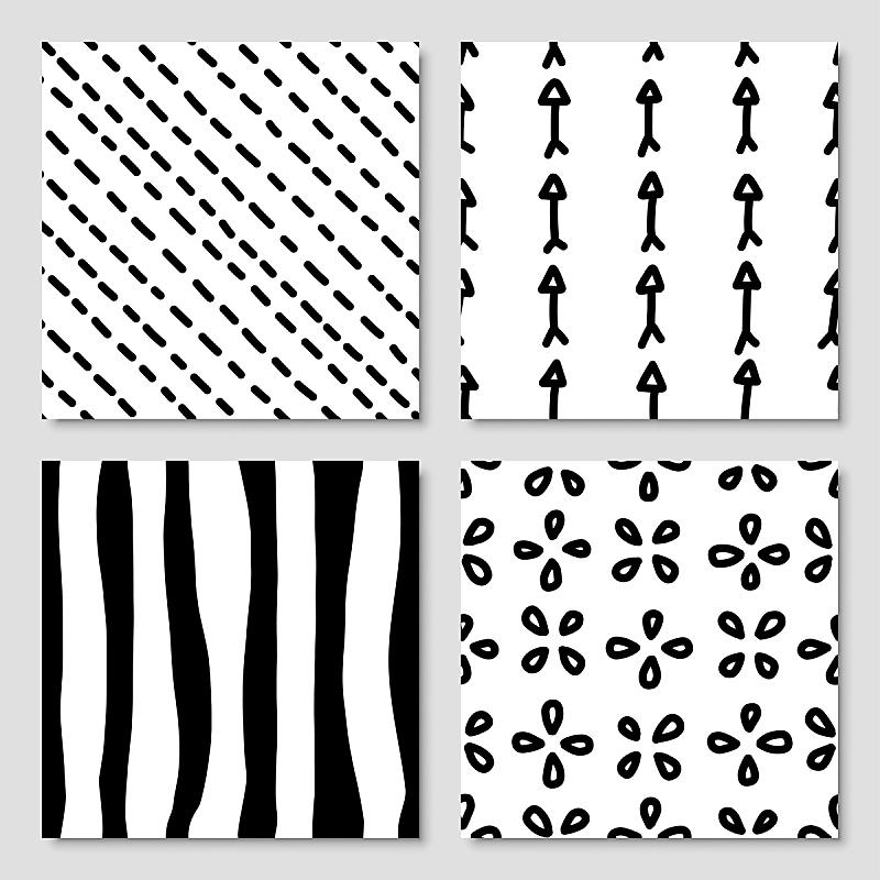 墨水,手,四方连续纹样,矢量,绘画插图,画布,毡尖笔,斯堪的纳维亚半岛,绘制,布置