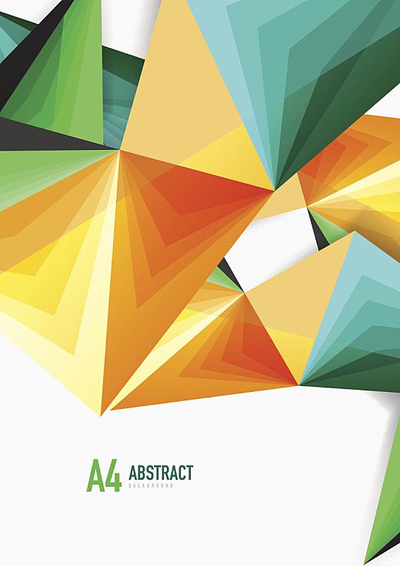 分界线,低多边形效果 ,矢量,三维图形,三角形,高雅,低的,垂直画幅,贺卡