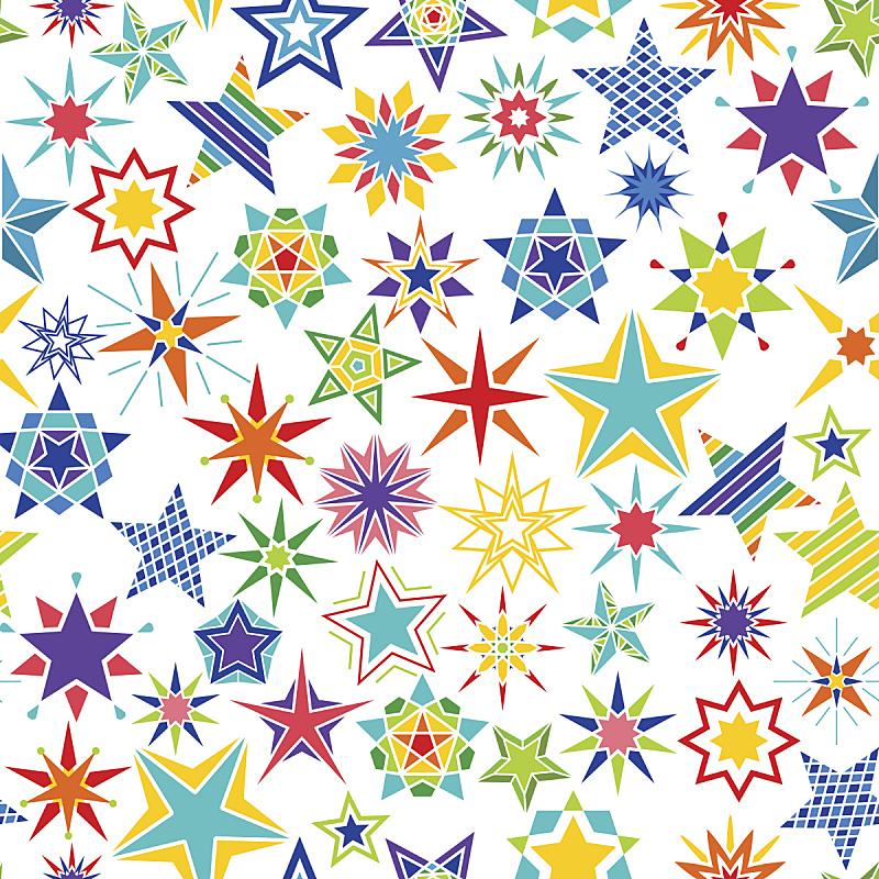 多色的,式样,星星,卡通,华丽的,贺卡,计划书,纺织品,简单,小的