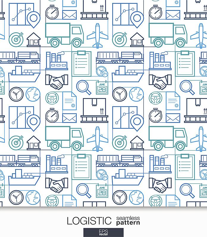 商务,四方连续纹样,壁纸,货运,海上运输,信使,纹理效果,有序,线条,细的