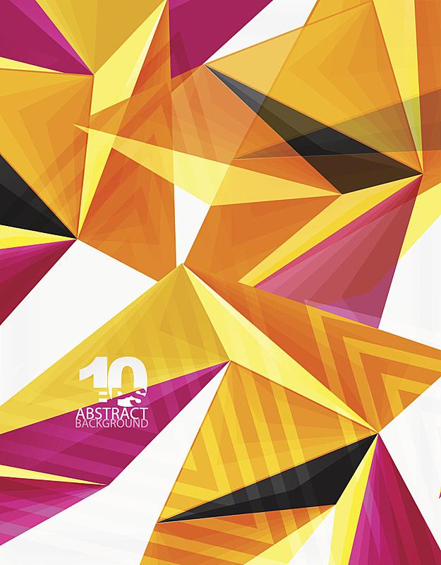 现代,低多边形效果 ,矢量,几何形状,三维图形,三角形,抽象,分界线,垂直画幅,未来