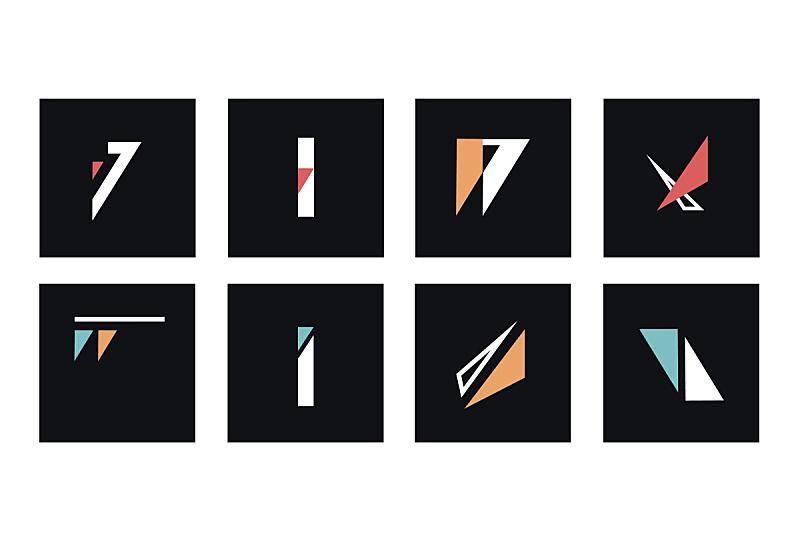 抽象,形状,矢量,极简构图,几何形状,酷,线条,多样,收集