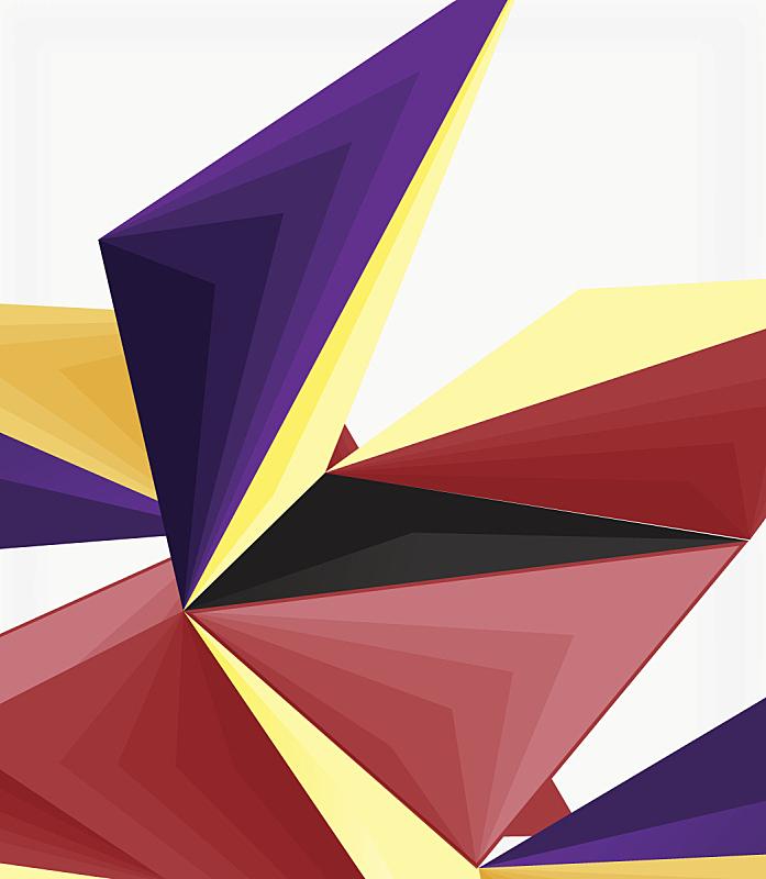 现代,低多边形效果 ,矢量,几何形状,三维图形,三角形,抽象,分界线,垂直画幅,贺卡