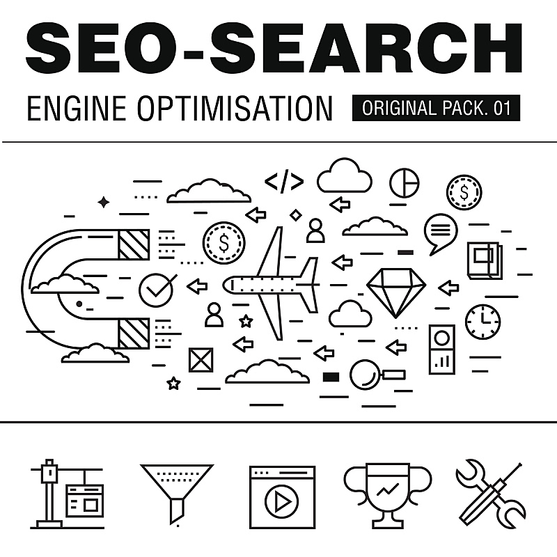 搜索引擎,极简构图,市场营销,鼠标,大数据,数字化显示,线条,电子邮件,交通,技术
