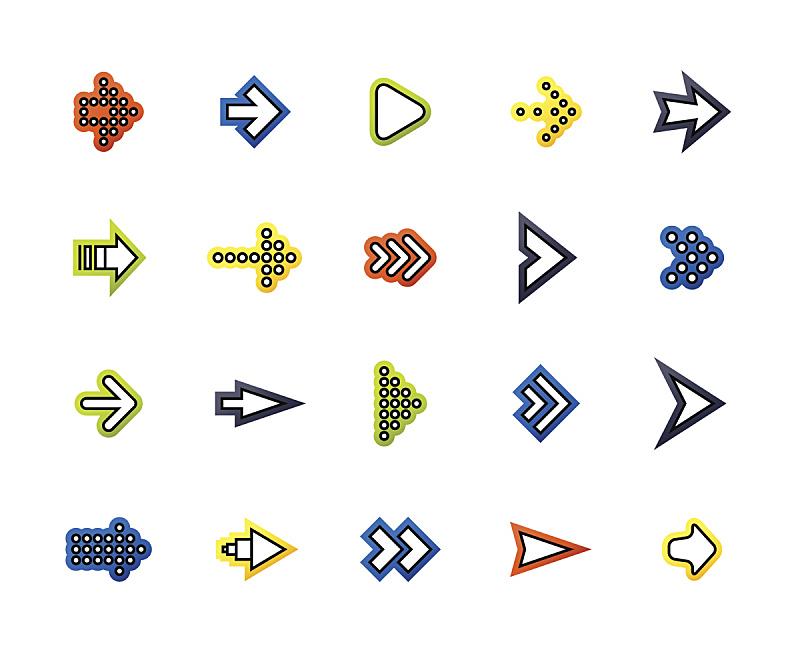 线条,细的,轮廓,符号,时尚,扁平化设计,极简构图,指示棒,光标,下一个