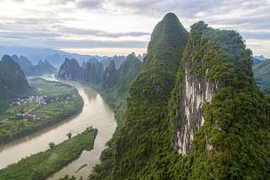 风景,山,桂林,阳朔,环境保护,地质学,不,户外,地形