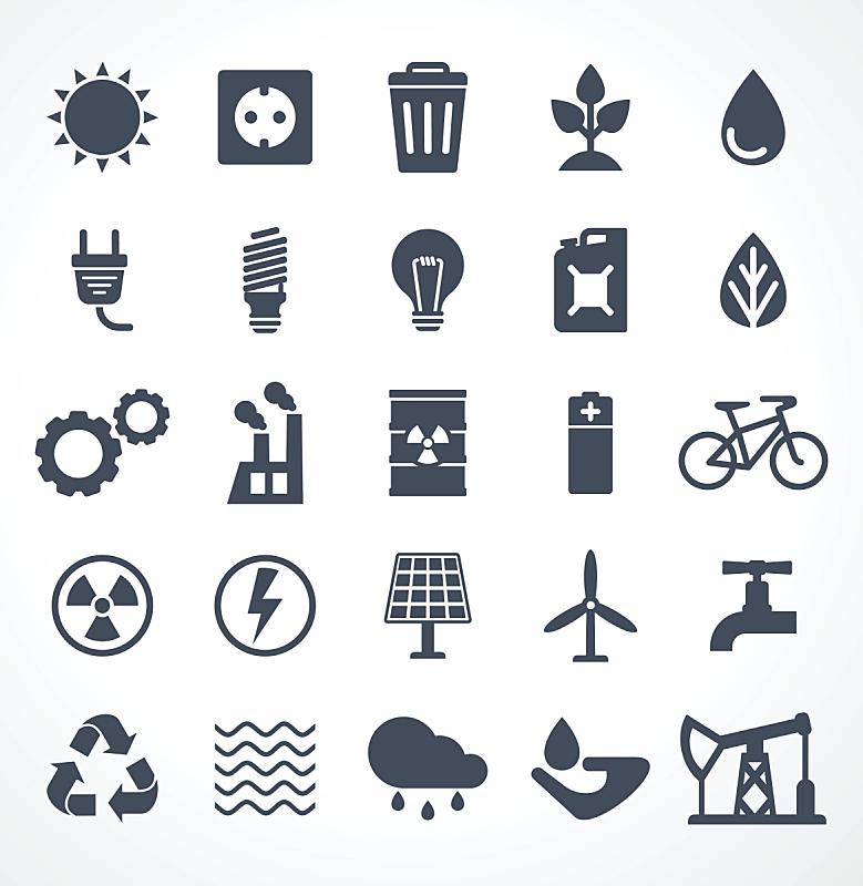 矢量,能源,计算机图标,黑色,暗色,计划书,自然神力,电力线,色彩鲜艳,商业金融和工业