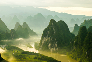 山,桂林,风景,山顶,喀斯特,广西壮族自治区,无人,自然美,著名景点