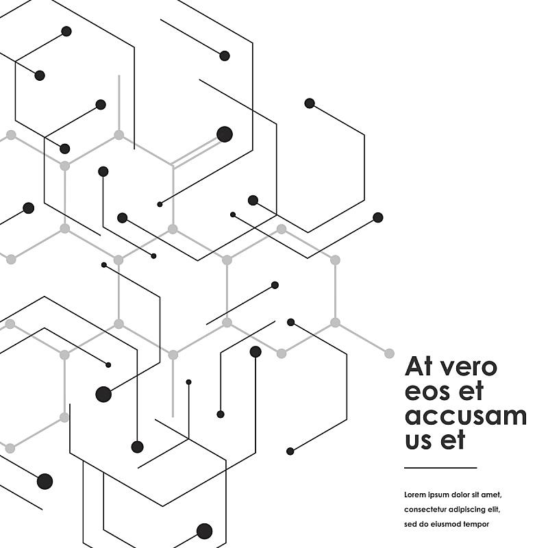 科学,斑点,式样,极简构图,白色背景,线条,计算机网络,生物学,商务,几何形状