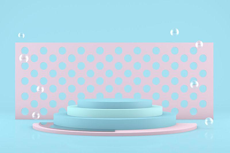 几何形状,空的,三维图形,抽象,极简构图,背景,指挥台,概念,留白,未来