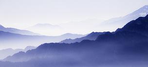 云,海洋,地形,山,山脉,背景,蓝色,山顶,禅宗,无人