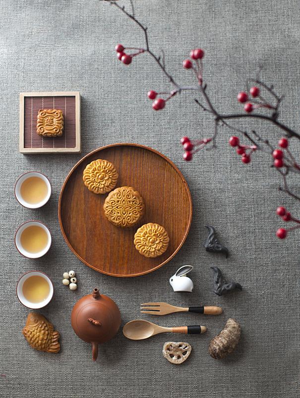 茶,饮食,东方人,偏好,中秋节,垂直画幅,图像,中国食品,小吃,月饼