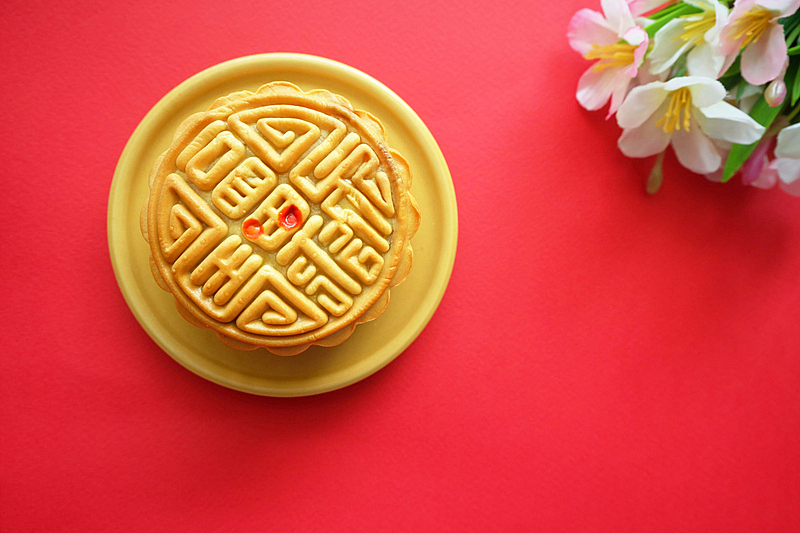 茶,传统,中秋节,蛋糕,食品,泰国,传统节日,甜点心,甜食,餐馆