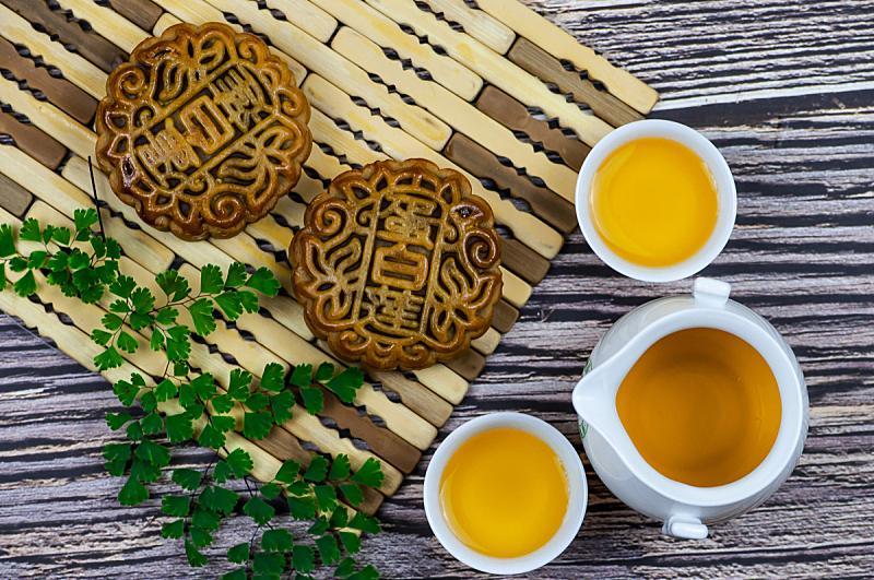中秋节,蛋糕,茶,传统,秋天,饮食,图像,月饼,传统节日,甜点心