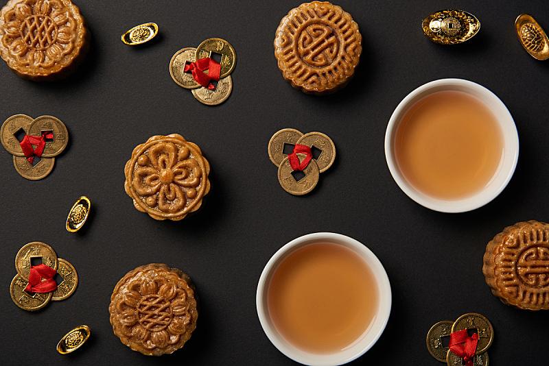 传统,风水,抽陀螺,茶杯,黑色背景,分离着色,国内著名景点,事件,中秋节,杯