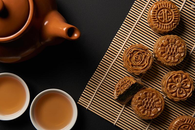 传统,杯,茶壶,餐垫,竹子,国内著名景点,事件,季节,中秋节,饮食