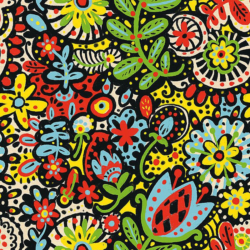 纺织品,浪漫,铅笔,简单,树荫,复古风格,瓷砖,柔和色,四方连续纹样,春天