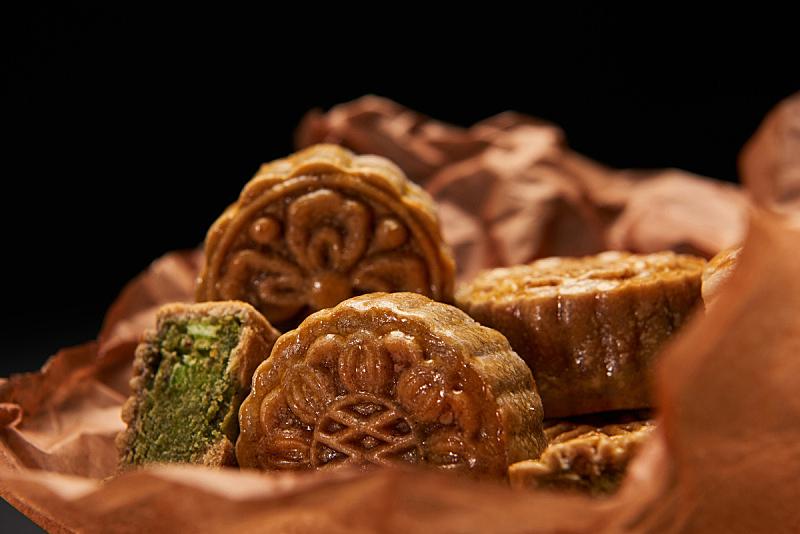 传统,选择对焦,分离着色,黑色背景,事件,季节,春节,中秋节,饮食,食品