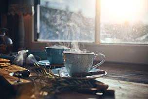 热,橙子,肉桂,冰茶,茶,冬天,热饮,秋天,茶壶,杯