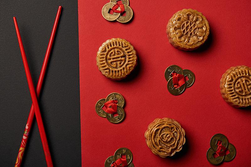风水,筷子,红色,抽陀螺,黑色背景,传统,国内著名景点,事件,中秋节,食品