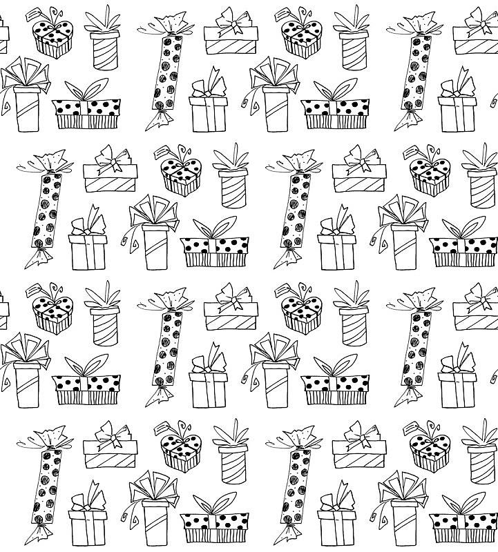 贺卡,纺织品,乱画,情人节,生日,可爱的,四方连续纹样,包装纸,包装