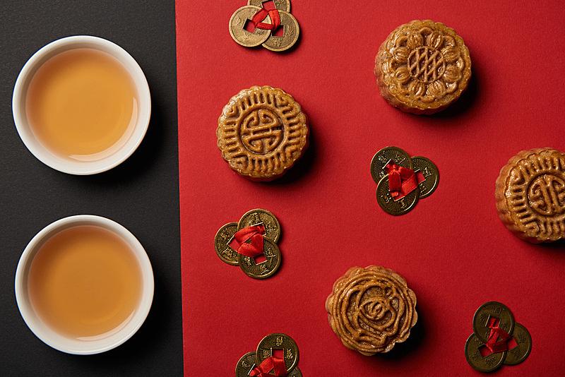 杯,风水,茶,抽陀螺,黑色背景,红色,传统,国内著名景点,事件,中秋节
