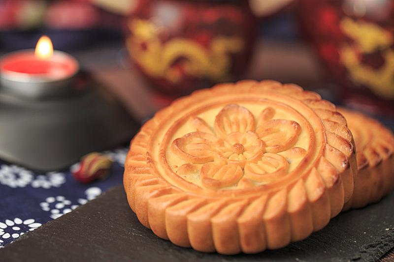 月饼,美味,传统,中秋节,蛋糕,食品,蛋黄,茶杯,甜食,鸡蛋