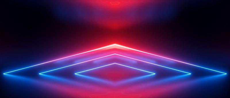 背景,红色,霓虹灯,激光,蓝色,抽象,条纹,三角形,反射,发光