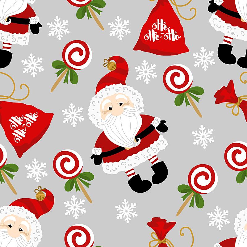 背景,圣诞老人,节日,四方连续纹样,绘画插图,新的,纺织品,雪,卡通