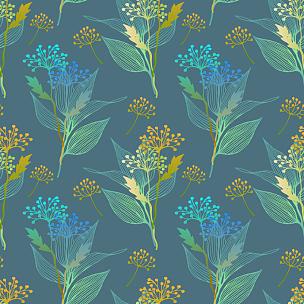 四方连续纹样,叶子,植物群,华丽的,纺织品,复古风格,古典式,春天,背景,夏天