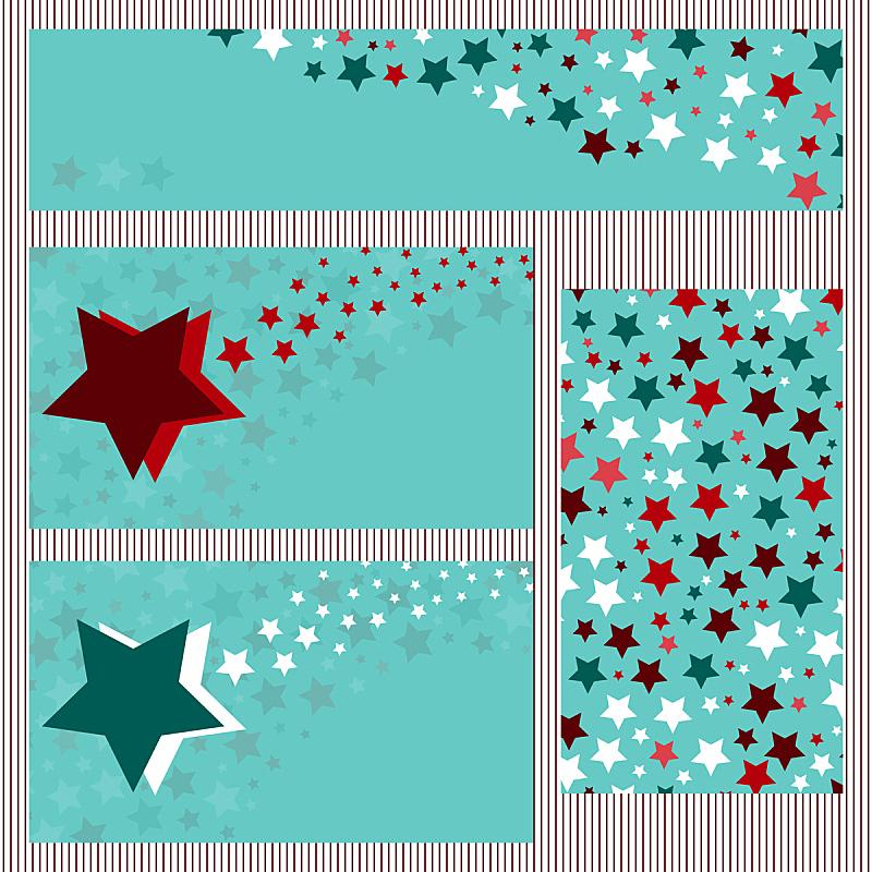 星星,模板,名片,天空,贺卡,留白,边框,无人,绘画插图,符号