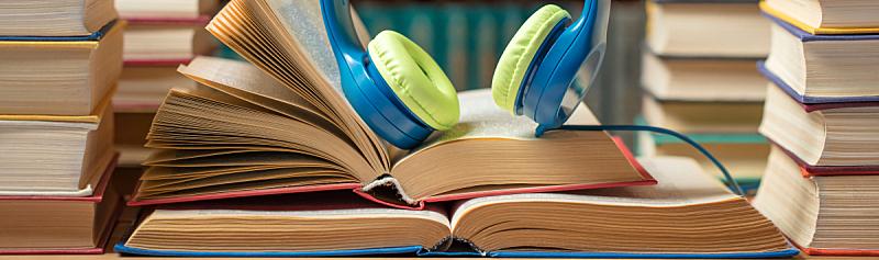 噪声,图书馆,耳机,书,概念,精装书,耳麦,唱片,技术,书店