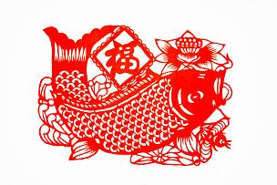 鲤鱼,运气,传统,春节,艺术,汉字,装饰