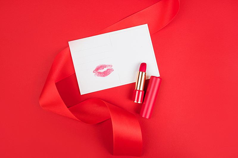 情人节,周年纪念,贺卡,背景分离,打印单据,信函,浪漫,信封,平铺,节日