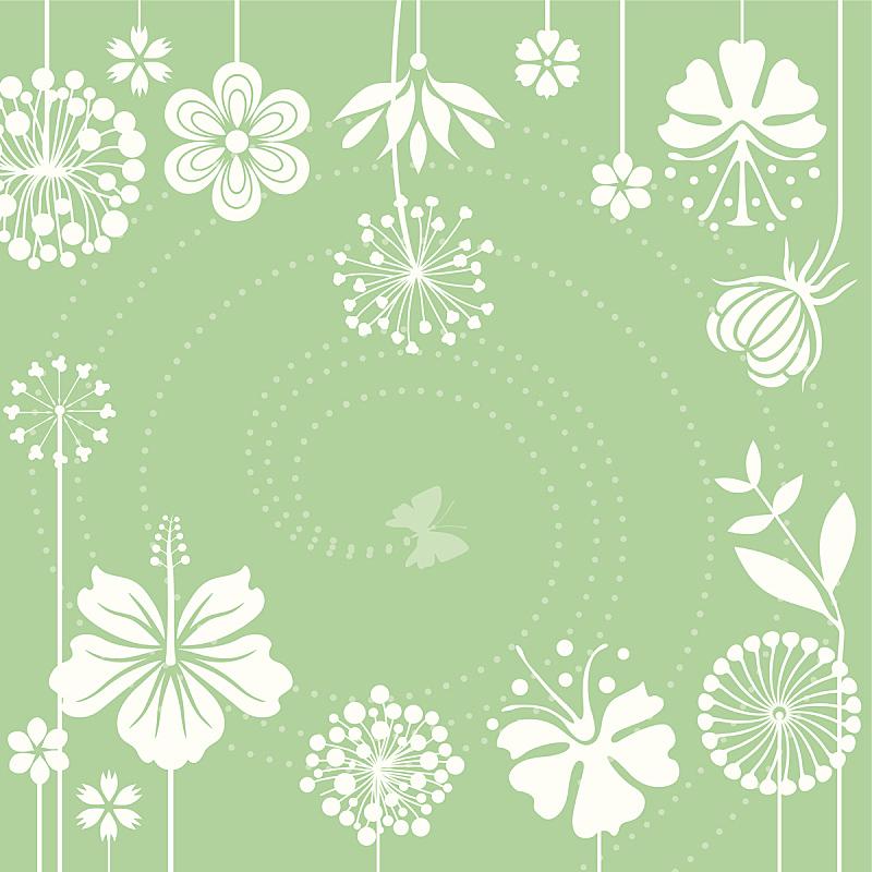 兰花,荷花,印度草医学,蝴蝶,无人,绘画插图,甘菊花,夏天,玫瑰,草