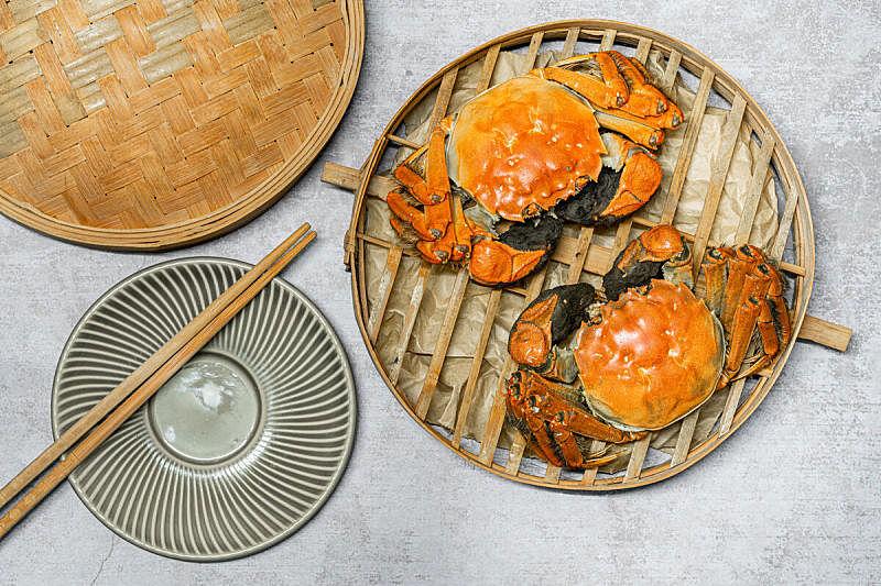 螃蟹,贝壳,白色背景,上海,大闸蟹,蓝蟹,活力,淡水蟹,东方食品,蒸菜