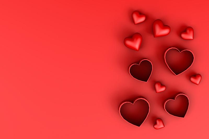 三维图形,情人节,概念,周年纪念,贺卡,结婚请柬,浪漫,情人节卡,二月,女人