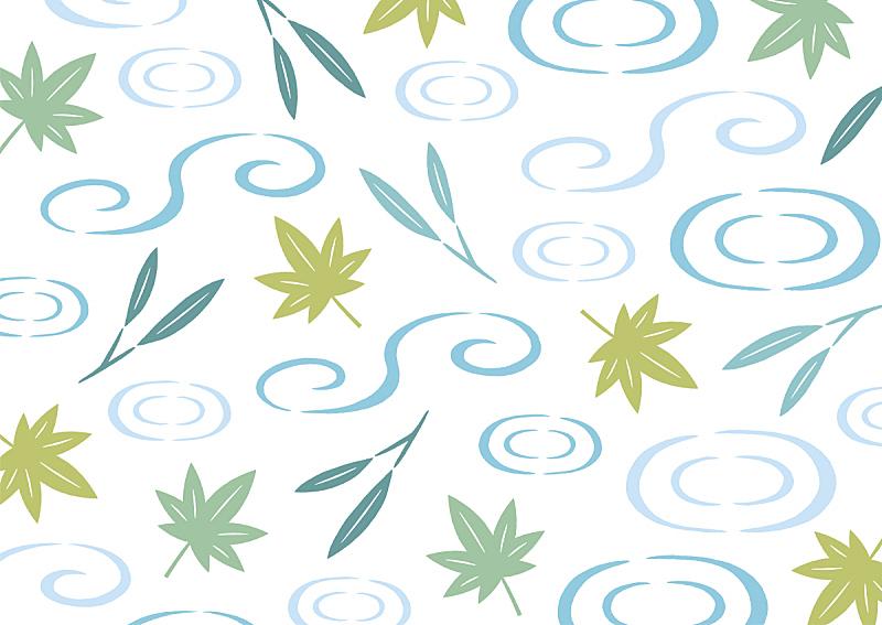 叶子,式样,绿色,清新,水面,和服,便装和服,环境,枝繁叶茂