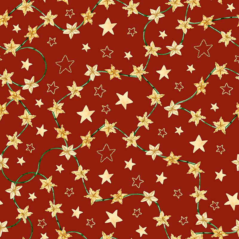 贺卡,新年前夕,绘画插图,式样,奶酪,红色背景,边框,星形