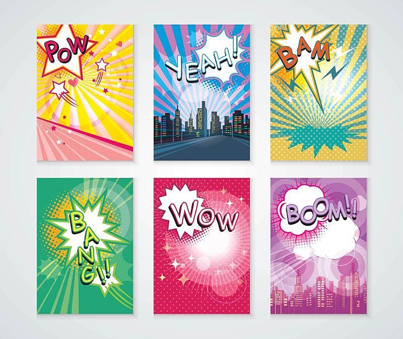 矢量,背景,高雅,漫画书,漫画,布置,对话气泡框,贺卡,边框,艺术