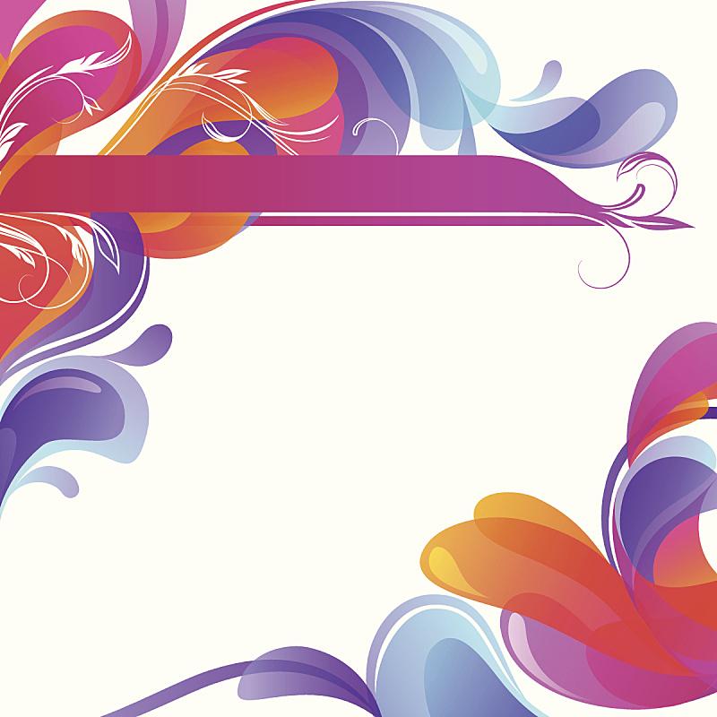 泡泡,漩涡形,抽象,美,形状,绘画插图,古典式,摇滚乐,现代,彩色图片