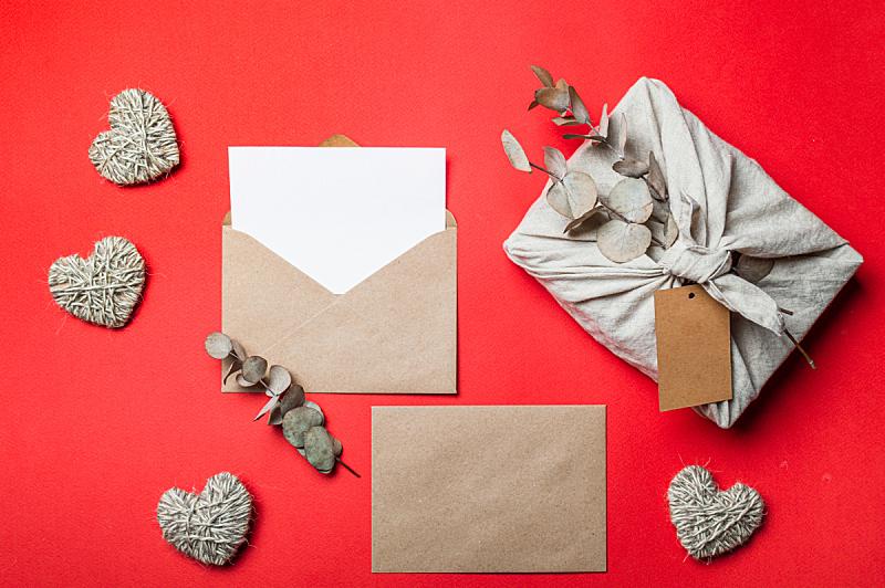 情人节,概念,正下方视角,轻蔑的,零浪费,传统,数字0,贺卡,纺织品,环境