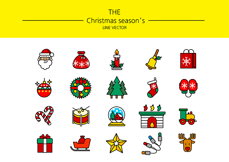 成一排,图标集,计算机图标,图标,符号,雪花,人,树,种植