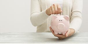 猪,概念,手,金融,救球,女人,仅一个女孩,仅儿童,现代,拿着