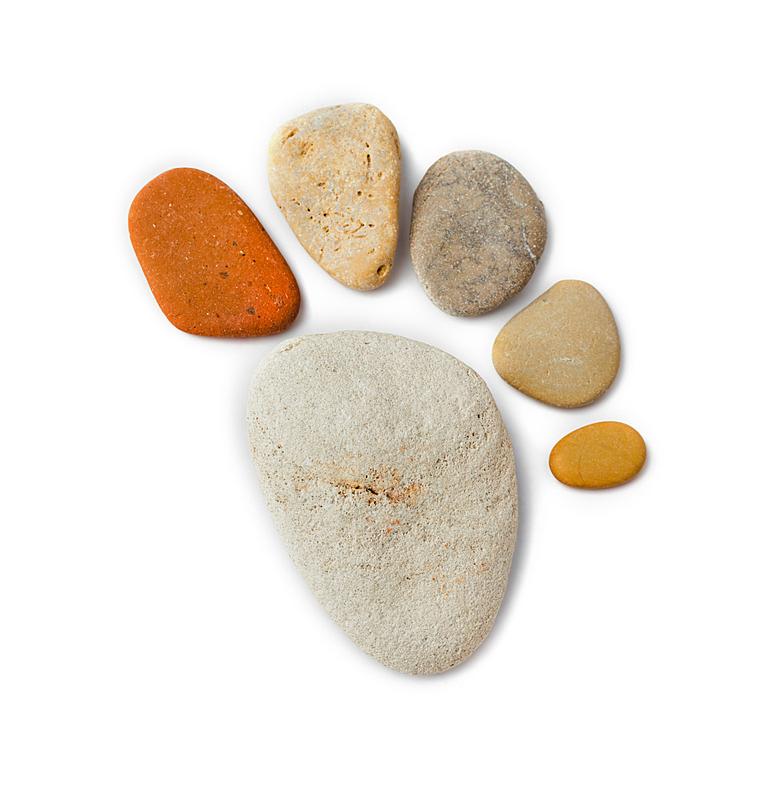 足,石头,脚印,有序,背景分离,打印单据,禅宗,堆,小路,鹅卵石
