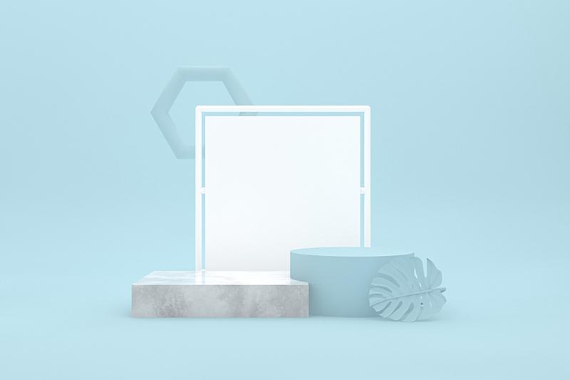 边框,领奖台,空的,底座,蓝色背景,技术,竞技场,简单,模板,现代
