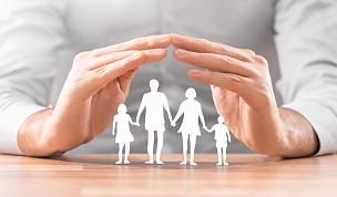 家庭,概念,手,纸,桌子,部分,波兰,儿童,想法,木制