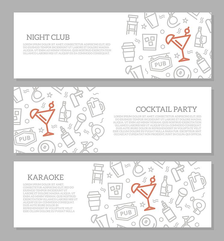 绘画插图,鸡尾酒,夜总会,矢量,式样,计算机图标,三个物体,布置